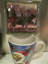 MOOSE MUG  & SCENTED SPICE MUG MAT ~ 2 PIECE SET