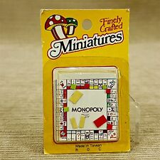 Dollhouse Miniature Monopoly Board Game Vintage Finely Crafted 1pc Family Room