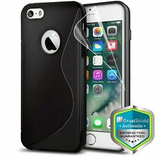 For iPhone SE 5S 5 Rubber Thin Slim Durable Shockproof Gel Grip Case Cover Skin