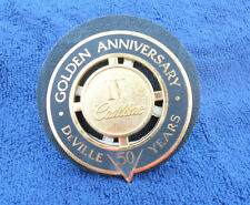 CADILLAC DEVILLE 50 YEARS GOLDEN ANNIVERSARY IV GOLD GRILLE EMBLEM OEM