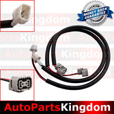 "07-17 Jeep Wrangler JK 2x 24"" Fog Light Extension Cable Wire Harness with Cover"