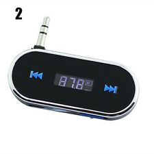 Black Wireless 3.5mm Car LCD Display FM Transmitter For Samsung iPhone 6