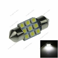 1X White 31MM 9 3528 Festoon Dome Interior LED Light Lamp Bulb DE3425 I024