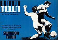 1971/72 Luton Town v Swindon Town, Division 2, PERFECT CONDITION