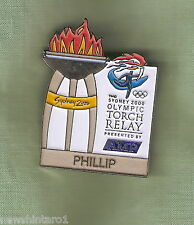 PHILLIP   2000 OLYMPIC AMP TORCH RELAY PIN