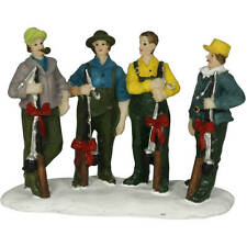 HOLIDAY TIME CHRISTMAS VILLAGE ACCESSORIES - 4 GUYS WITH FISHING POLES