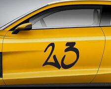 Numeri Corsa Graffiti 08. Personalizzata Auto Vinile Porta Adesivo. TRACK tracce di trasferimento.