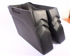 """Bagger 4"""" Stretched Extended Saddlebags for Harley Touring Softail Led Lights"""