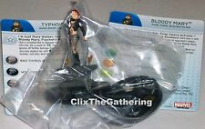 TYPHOID MARY/BLOODY MARY #058A/B Deadpool Marvel HeroClix Super Rare