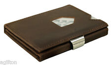 Exentri - Fine Leather Wallet, compact, stylish - Nubuck Brown