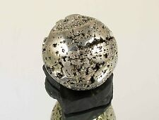 GOLDEN PYRITE Natural sphere 67 mm with stand #M170 - Peru