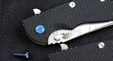 "Hinderer Knives Pivot Screw for 3.5"" XM-18, XM-24, & Eklipse, Blue Titanium"