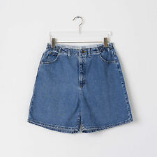 Vtg Womens High Waisted LEE Denim Shorts Size 16 18 / Grunge Blue Festival Rise