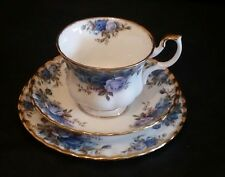 ROYAL ALBERT MOONLIGHT ROSE TRIO  (TEA CUPS &  SAUCERS AND PLATES) FIRST QUALITY