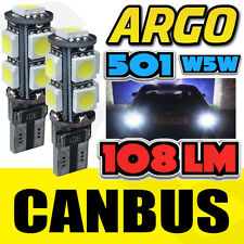 2 X ERROR FREE CANBUS 501 9 SMD LED SIDE INDICATOR BULBS WHITE XENON T10 W5W 194