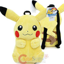 "Pokemon Pikachu Plush Doll Backpack 16"" Nintendo Game Costume Bag"