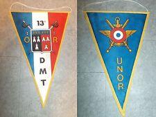 fanion ancien VINTAGE militaria 13 DMT UNOR division militaire territoriale