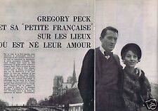 Coupure de presse Clipping 1959 Gregory Pack  (7 pages)