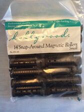 Snap Around Magnetic Rollers Small Curlers 14 Black Pageant Prom Wedding Hair