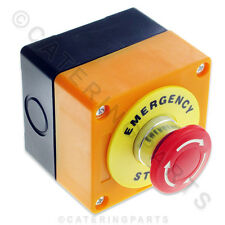SW10 EMERGENCY STOP BUTTON SWITCH TWIST RESET EM1 PLASTIC CASING - GAS INTERLOCK