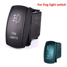 5 Pins Blue LED Light Laser Rocker Switch Backlit Fog lights On-Off 12V 20A Car