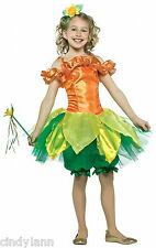 DAFFODIL FLOWER HALLOWEEN COSTUME RASTA IMPOSTA GIRLS 7 - 10