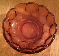 VINTAGE DEPRESSION GLASS -FOOTED CANDY DISH AMBER