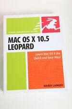 Mac OS X 10.5 Leopard : Visual QuickStart Guide OSX Book by Maria Langer