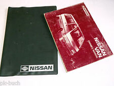 Bordmappe mit Betriebsanleitung Owners Manual Nissan Vanette Stand 1987