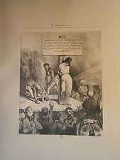 Planche gravure Arrèt de la cour prévôtale  Par Gabriel Alexandre Decamps