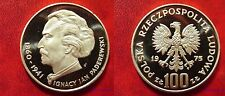 1975 Poland Silver Proof 100 ZL Paderewski-composer