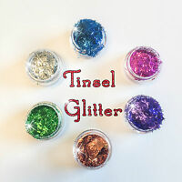 TINSEL GLITTER POTS NON-TOXIC WINE GLASS NAIL ART CRAFT DUST  NEW!