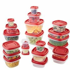 Rubbermaid Easy Find Lids Food Storage Container 42-piece Set Red (1880801)
