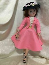 Felt suit, blouse, lace slip, hat and purse  made for Mme Alexander Cissy