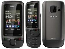 Brand New Nokia C2-05 Black Grey Slide 3G Unlocked Phone 1 Year Warranty