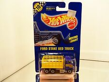 1991 Hot Wheels Ford Stake Bed Truck #99 - Solid Blue Card - MONMC