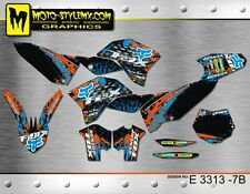 KTM SX SXf 125 250 450 525 2007 up to 2010 graphics decals kit