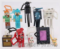 10 X MINECRAFT SERIES 2 KEYCHAIN KEYRING 3D MOVEABLE HANGER PARTY BAG BIRTHDAY