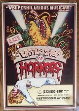 """LITTLE SHOP OF HORRORS"" Original 1983 Westwood LA Byrd (Broadway) Poster 27x38"""