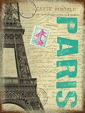 Paris Eiffel Tower small steel sign (og 2015)