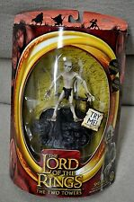 """LORD OF THE RINGS TWO TOWERS TTT SMEAGOL w/ SOUND BASE BATTLE 5 ARMIES 6"""" TOYBIZ"""