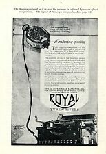 Royal Typewriter Company New York * American ad. in the thirties