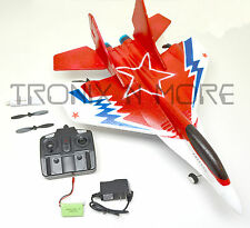 "2.4G 17"" RC JET Airplane MIG 29 FOAM Easy Beginner 2Ch Lipo Battery Charger LED"