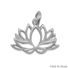 Polished LOTUS FLOWER -  ELEMENTS OF CHARM - .925 Sterling Silver 74362