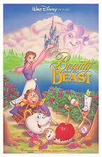 BEAUTY AND THE BEAST (1991) ORIGINAL MINI MOVIE POSTER  -  ROLLED