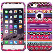 "Tuff HYBRID Hard Case Cover Tribal Fashion / Purple For Apple iPhone 6 PLUS 5.5"""