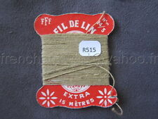 R515 Mercerie vintage ancienne carte FIL DE LIN N°24/3 FFF beige sable Thread