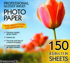Kirkland 8.5 x 11 Professional Glossy Inkjet Photo Paper - 150 Sheets
