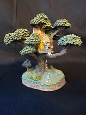 Extremely Hard to Find ~ Danbury Mint Disney's Pooh Treehouse ~ Owl's House