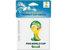 FIFA SOCCER WORLD CUP BRASIL 2014 OFFICIAL BRAZIL SOCCER DIE CUT DECAL STICKER